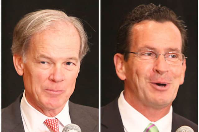 The election between Tom Foley, left, and Dannel Malloy will be a photo finish, according to the Quinnipiac Poll.