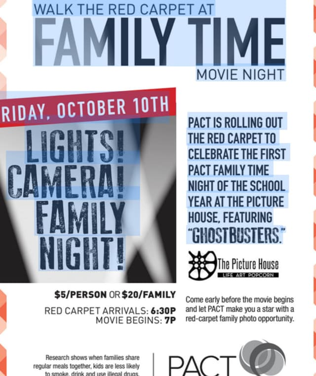 PACT movie night at The Picture House will be Friday, Oct. 10.