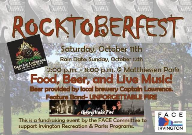 A flyer for Irvington's Rocktoberfest, on Saturday, Oct. 11