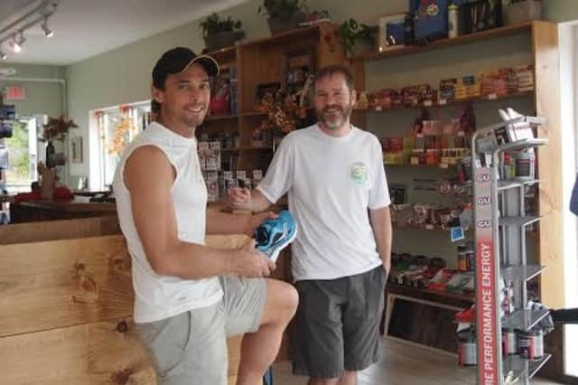 Ben Drew, right, is the owner of the new running store, Run On Hudson Valley, in Croton-on-Hudson. Brad Lombardi is the store manager.