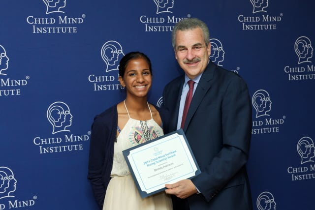 Brinda Ramesh was honored by the Child Mind Institute for her science research.