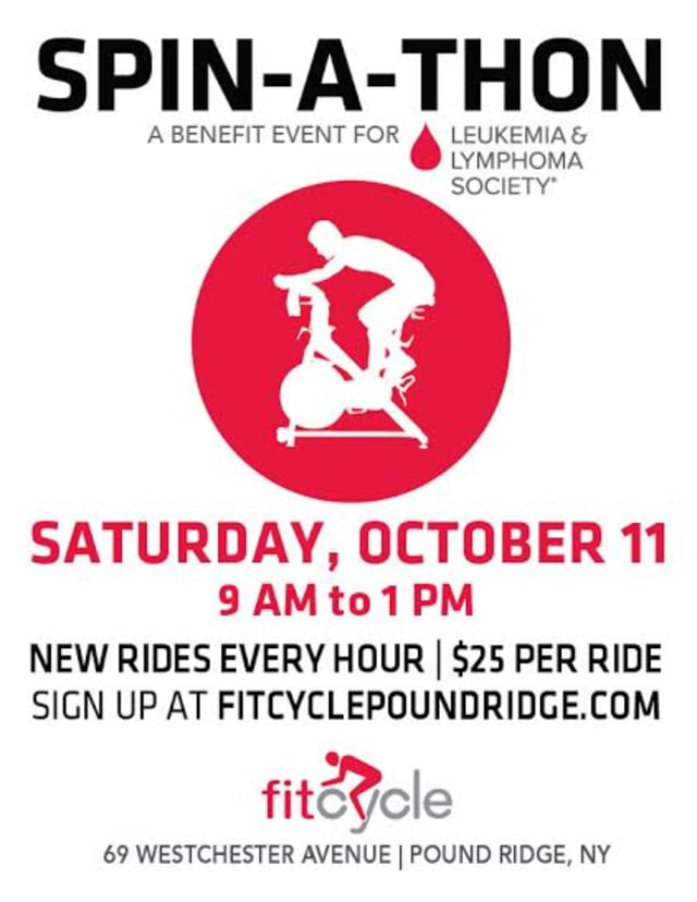 Fitcycle's Spin-A-Thon will serve as a benefit for the Leukemia and Lymphoma Society.