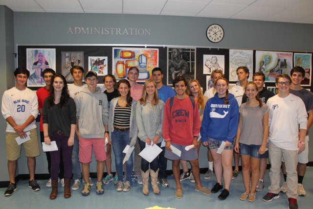 Some of Darien High School's  Commended Students in the 2015 National Merit Scholarship Program.