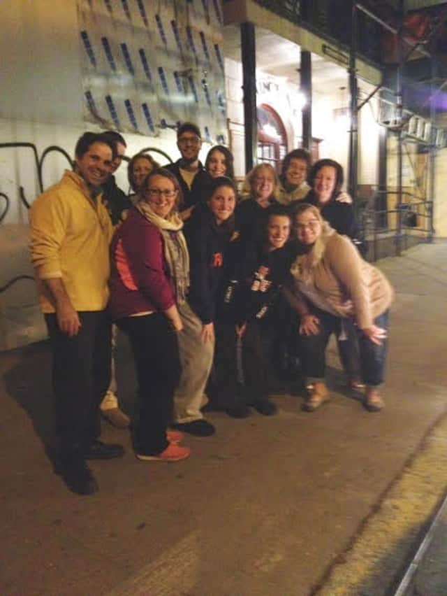 The Chapel School staff and students who participated in a Midnight Run in New York City.
