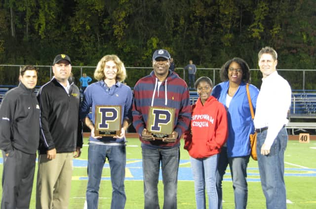 Laurence Ekpergin and Fred Romer were inducted into Walter Panas High School's Hall of Fame.