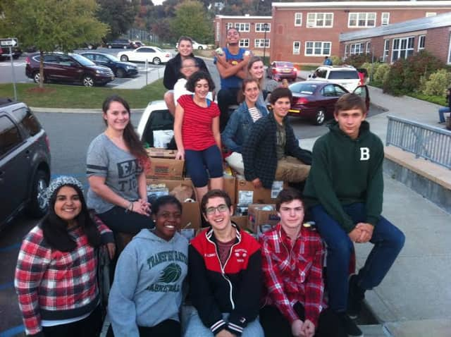 Sleepy Hollow High School students participate in canned drive and collect up to 5,000 cans.