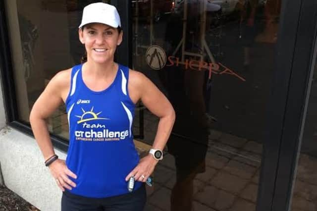 Jenn Lewis of Wilton will run the TCS New York City Marathon on Sunday, Nov. 2.