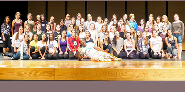 Twenty-eight Harrison High School students took part in African dance workshop 