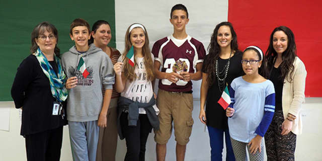 Harrison students from Louis M. Klein Middle School and Harrison High School were honored for their excellence in Italian.