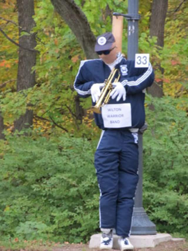 A Warrior Band scarecrow decorates Wilton for a previous Halloween. Runners can enjoy the annual Halloween Hustle 5K and Scarecrow Scamper Kid's Run on Sunday in Wilton.