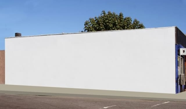 The side of this New Rochelle building will soon be adorned with a mural to brighten downtown.