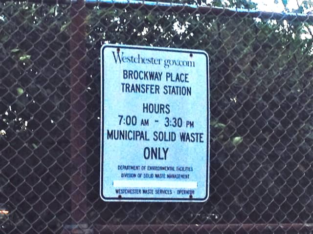 A county transfer station where local municipalities deliver their waste.