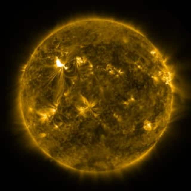 A series of strong solar flares could cause disruption of radio and other communication services.