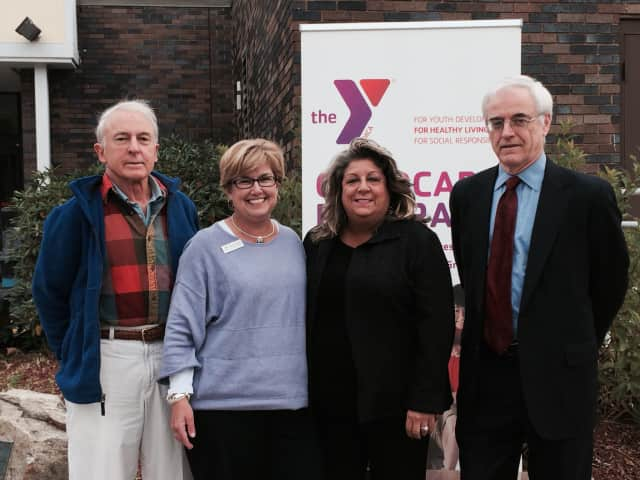 From left, Bruce Beebe; Christene Freedman, director of development, Wilton Family YMCA; Carol Johnson, vice president, Fairfield County Bank; Christian Gilles, of A Better Chance.