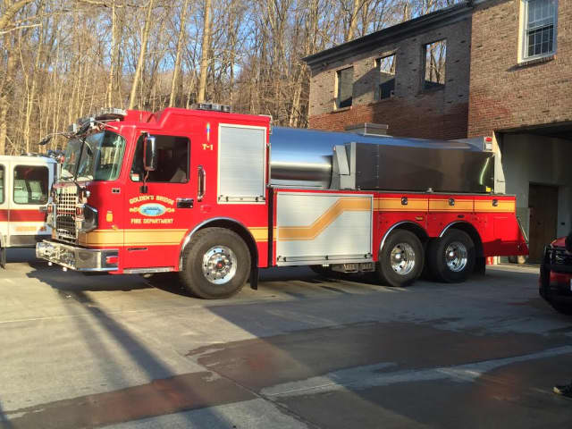 Crews from several fire departments aided in battling a fire in a vacant Goldens Bridge home.