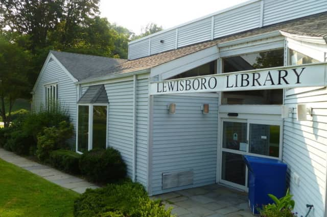 The Lewisboro Library's regular building, which is currently undergoing construction. The library is temporarily in a nearby church.