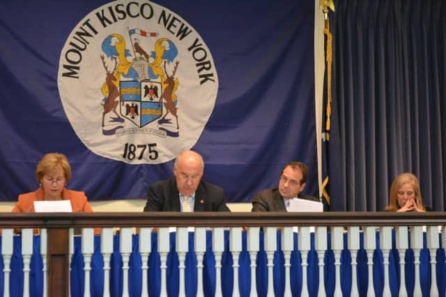 Mount Kisco Trustees Jean Farber, left, and Karen Schleimer, right, were re-elected.