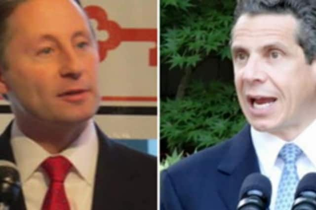Hawthorne resident Rob Astorino and New Castle resident Andrew Cuomo face off in the race for governor.