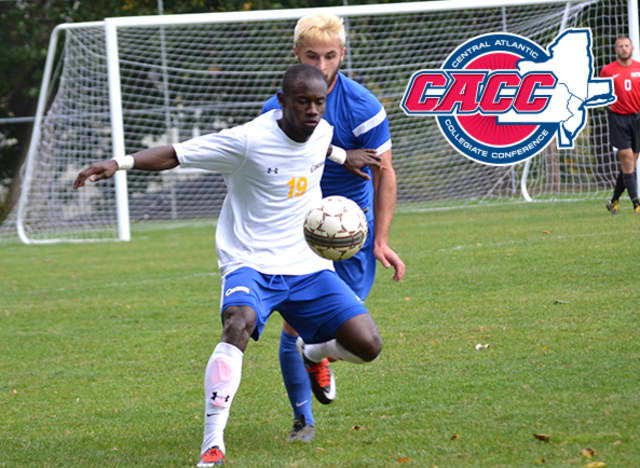 Concordia College sophomore Ovan Oakley earned men's soccer Player of the Year honors from the Central Atlantic Collegiate Conference after a 15-goal, 34-point season.