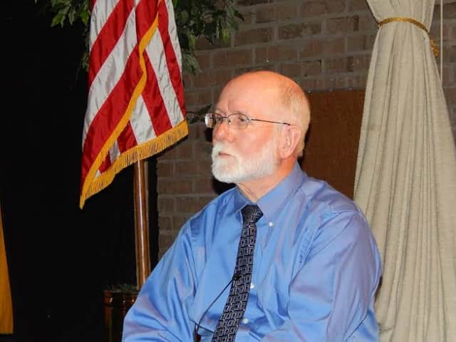 Michael Nerney spoke at Blue Mountain Middle School on Monday, Nov. 3.