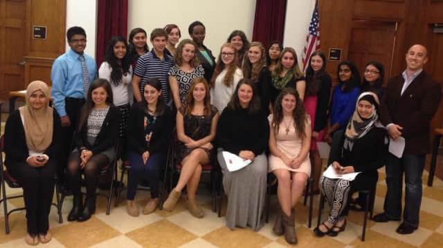 Twenty-three students joined the Port Chester High School Tri-M Music Honor Society.