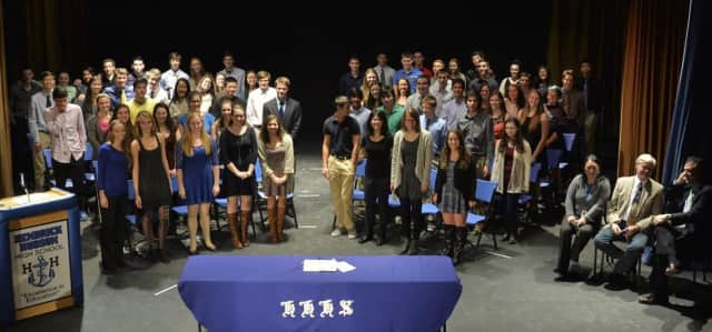 Hendrick Hudson High School inducts new members to its Math Honor Society.