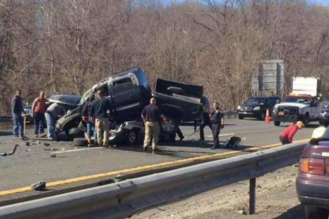 An April traffic accident on Interstate 684 in Katonah drew swift response from emergency responders.