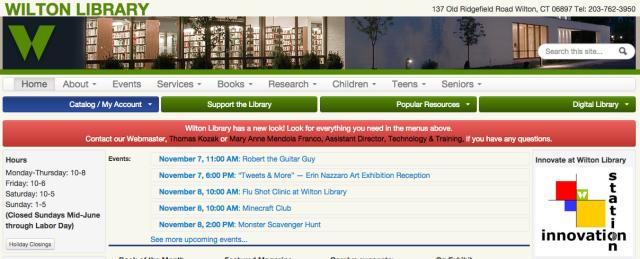 A screenshot of the new website.
