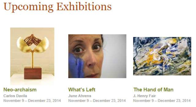 Three artists explore the theme of broken landscapes and lost symbols at the Silvermine Arts Center Nov. 9 through Dec. 23.