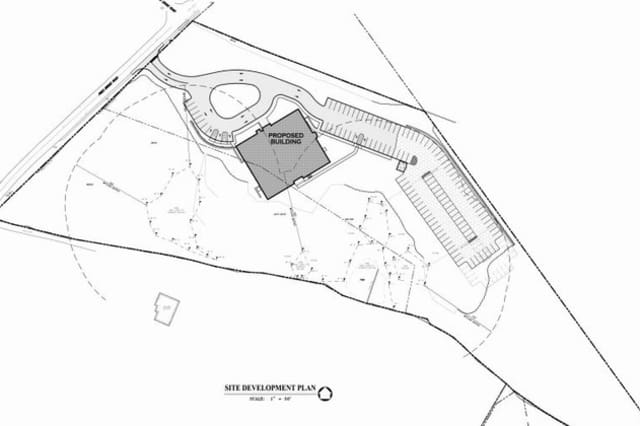 A screen shot of the site plan for the Upper Westchester Muslim Society's proposed New Castle mosque.
