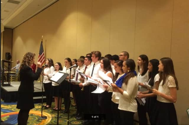 The Sleepy Hollow Singers saluted veterans.