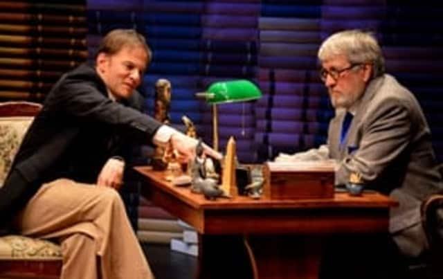 Kevin Cristaldi (left) plays C.S. Lewis and John Michalski (right) portrays Sigmund Freud.