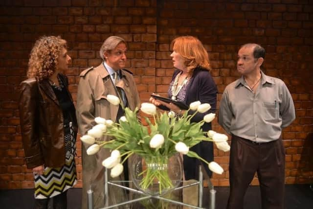 """The Darien Arts Center's production of """"God of Carnage"""" has received high praise from critics."""