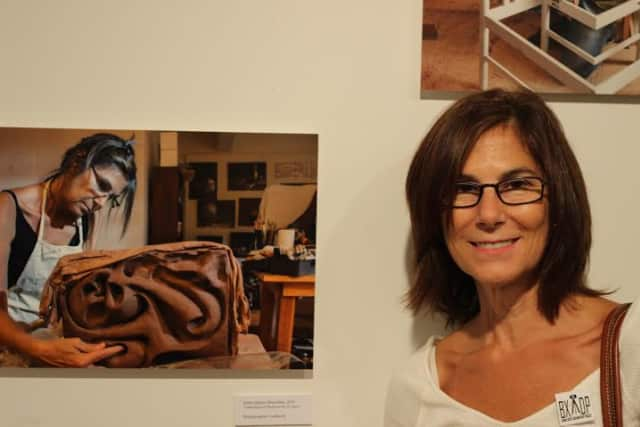 Eastchester High School teacher Sylvia Vigliani's work was part of a Bronx art exhibit.