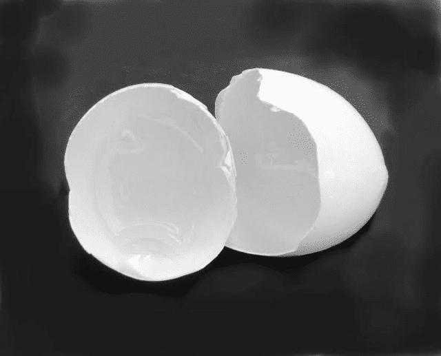 "April Herbert, ""Cracked Egg,"" digital print."