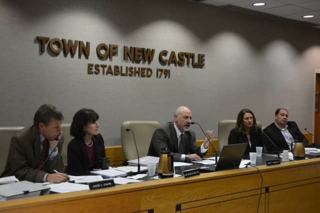 The New Castle Town Board at its Nov. 10 meeting.