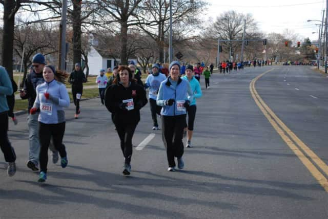 Runners hit the streets in Mamaroneck for the town's annual Turkey Trot.