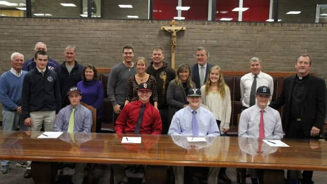 Kennedy Catholic students sign letters of intent to play sports in college.