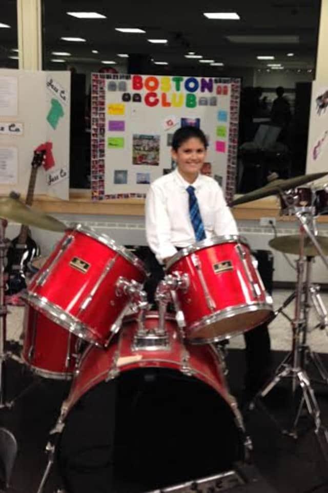 Eastchester Middle School seventh grader Christopher Tyrrell is a student of music teacher Mark Dodge.