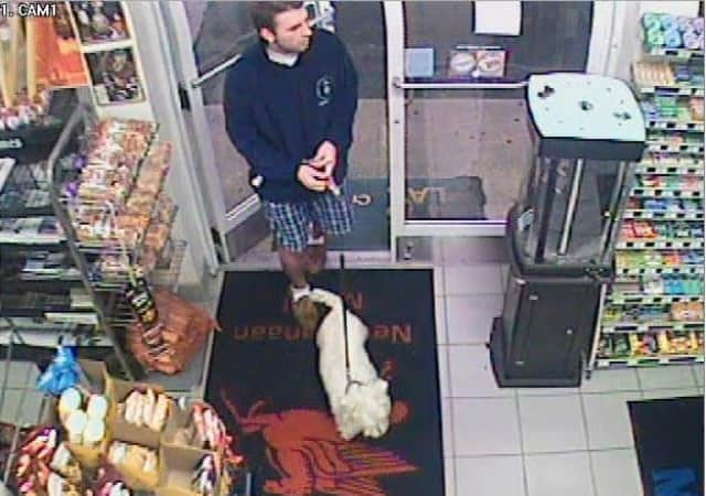 Police are seeking the public's help in finding this man who is suspected of passing a counterfeit bill at a New Canaan store.