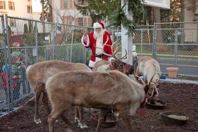 Santa will make a visit with his reindeer at the sixth annual Greenwich Holiday Stroll Weekend  on Dec. 6 and 7.