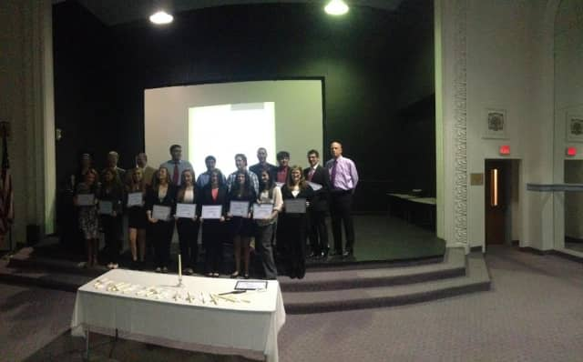Carmel High School students were inducted into the Business Honor Society.