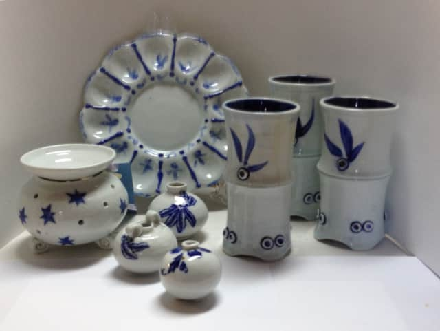 Ceramic works of Pat Atkin, a Darien award-winning artist and potter, will be made available at several local holiday shows.