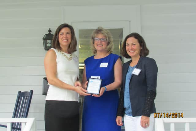 From left, Carrie Bernier, executive director of the Community Fund of Darien; Katie Banzhaf, executive director of STAR; and Susan Balloch, president of the board of directors for The Community Fund of Darien