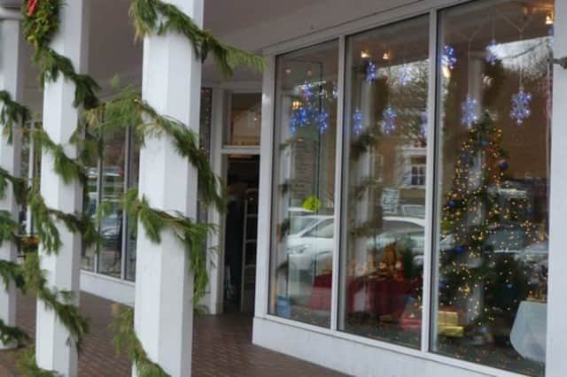 A storefront decorated during the 2011 Holiday Stroll in Wilton.