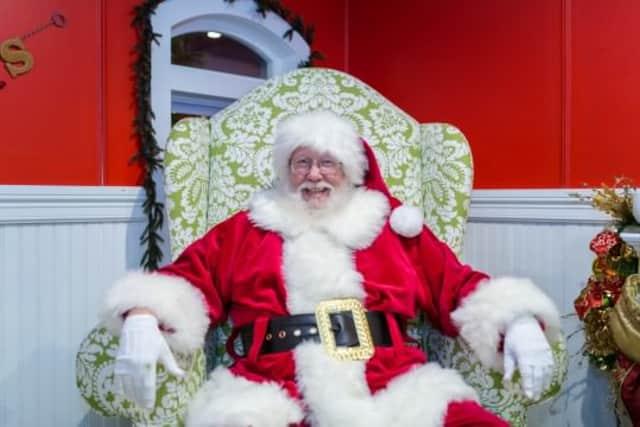 Santa will be at Gazebo Park on Sunday.