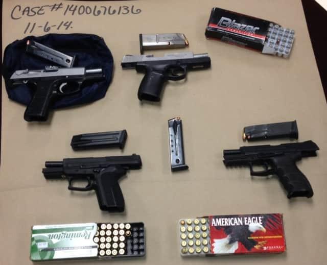 Stolen pistols