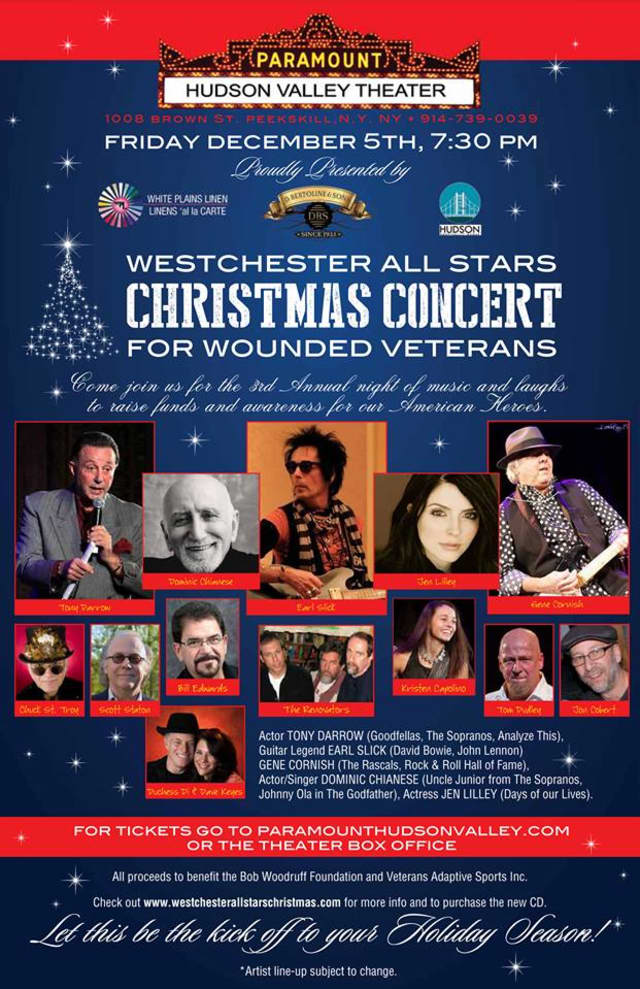 The Westchester All Stars and special guests will be performing a Christmas concert on Dec. 5 at Paramount Hudson Valley Theater.