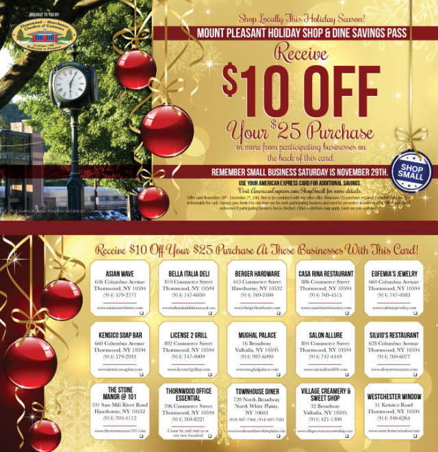 The 2014 Mount Pleasant Holiday Shopping & Dine Savings Pass.