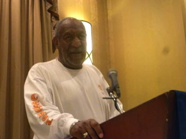 Bill Cosby speaking at the Lower Hudson Council of School Superintendents annual Carroll F. Johnson Scholastic Achievement Dinner held at the Doubletree Hotel in Tarrytown in May.